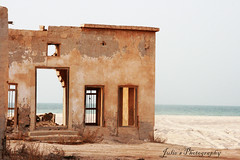 .... Reminisence (Julie) Tags: old sea abandoned beach ruins village north deserted qatar picturesqe