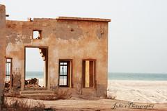 البكاء على الأطلال.... Reminisence (Julie™) Tags: old sea abandoned beach ruins village north deserted qatar picturesqe
