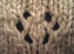 baby bolero, motif detail