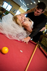 Right here's fine (lishagisha) Tags: wedding mark sash gown pooltable alisha applered decou
