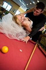 Right here's fine (lishagisha) Tags: wedding mark sash gown pooltable alisha applered decou