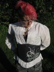 Swirling Gears Waist Cincher (Dreadnought Designs) Tags: fashion belt etsy steampunk waistcincher dreadnoughtdesigns