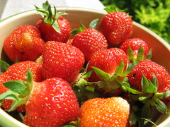 Strawberries from our garden