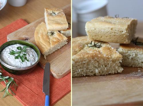 Focaccia & dip aux sardines
