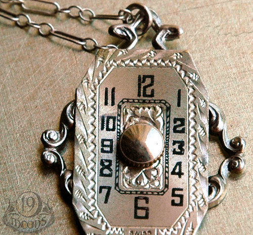 Lady in Waiting Vintage Watch Necklace by 19 Moons