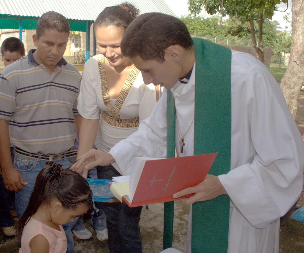 Miguelangel baptizes Genesis