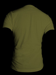 Back- Army Green (ir0cko) Tags: male back threadless armygreen onblack blanktee