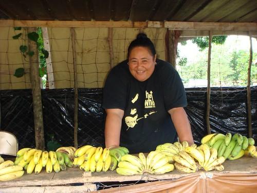 Lini - the watermelon seller. Tatakamotonga Village, Tongatapu, Tonga.