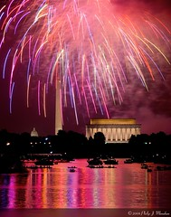 The View from Virginia (Phijomo) Tags: reflection dc washington districtofcolumbia nikon fireworks fourthofjuly lincolnmemorial july4th washingtonmonument capitolbuilding uscapitolbuilding washigtondc d80 nikond80