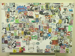 Sticker Canvas Update (Ric O'Shea) Tags: street art sticker plc boo canvas collaboration redi huke hotcoffee plk wearbeard plplc