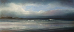 Panoramic Seascape.SOLD (jan farthing) Tags: sea art clouds landscapes seaside artwork skies seascapes fineart panoramic pastels mystical