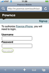 Pownce OAuth flow Step 2