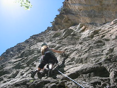 Rachel on Fat Slags 5.10a