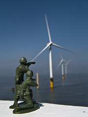 Don Quixote & Sancho Panza (frogdog*) Tags: attack windmills soldiers donquixote windturbine windfarm toysoldiers skegness sanchopanza innerdowsing skegnesswindfarm