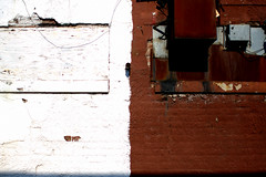 I (Brian Hagy) Tags: urban brown white chicago detail brick wall rust decay il