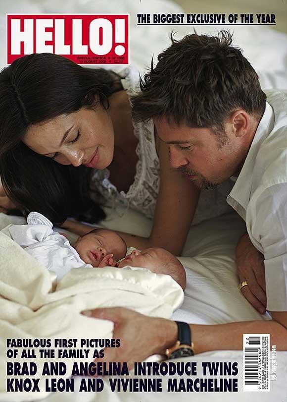 mellizos de Brad Pitt y Angelina Jolie en Hello