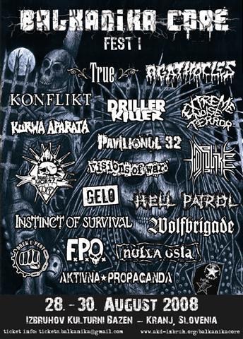 balkanika hardcore grind festival punk crossover extreme noise terror agathocles mob47 kranj slovenija slovenia