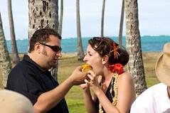 (GWW) Tags: wedding cake hawaii groom bride oahu steve luau kendal pantsparty missscotch scotchpants