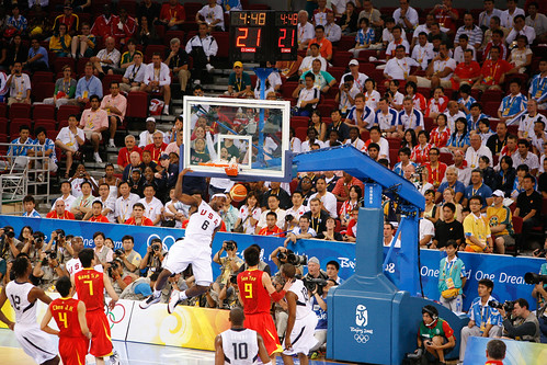 LeBron James Olympic Dunk - flickr/kk+
