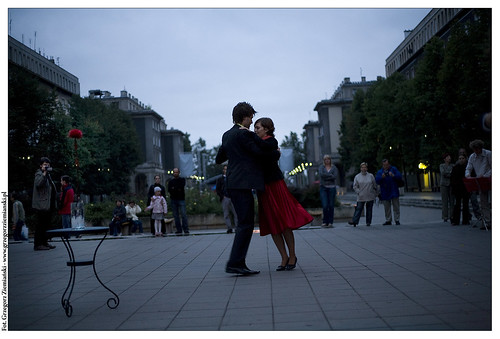 Open-air milonga in Nowa Huta