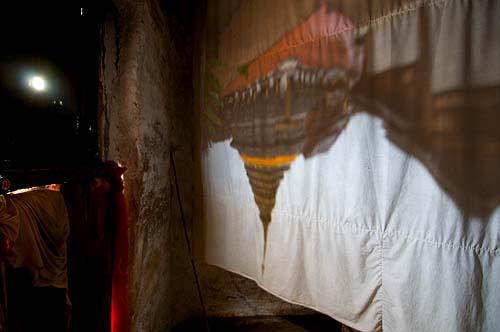 A camera obscura image of Wat Phra That Lampang Luang, Lampang, Thailand