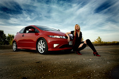 I Love My Honda (LikClick Photography) Tags: sky girl beauty canon honda automobile seasons faces human portraiture civic emotions redshoes studiophoto digest typer hondacivic professionalphotography maleportrait femaleportrait   peopleportraits civictyper girlportrait peoplepictures hondacivictyper strobist fn2  hondacars hondagirls portraiturephotography worldcars portraitprofessional summer2008 hondatuning hondacivic5d hondasportcar racingcarhondacivictyperskygirlredshoesautomobileracingcar beautifulwomanportrait hondagirl girlinredshoes hondacivicgirl blondehondacivic hondaauto sporthonda lovehonda  potraiteprofessional
