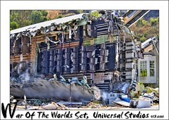 War Of The Worlds Set, Universal Studios (Lord Muttley McFester) Tags: usa america plane nikon crash hollywood boeing d200 universalstudios hdr