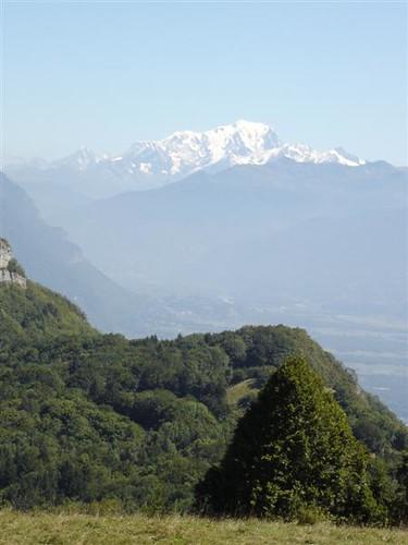Mont Blanc depuis le Rocher du Guet
