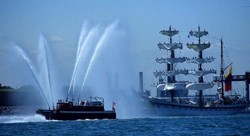 Fireboat Tall Salute