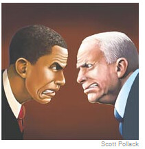 Obama McCain drawing