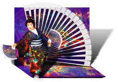 Fan Dance ~(K&K Abstract Challenge 1)~ (Gravityx9) Tags: photoshop geisha chop panos kk amer cubism 1008 artisticexpression panosfx fineartphotos flickrdiamond 100508 betterthangood abstractals kaleidospheres allkindsofbeauty modernimpressionists abstractchallenge