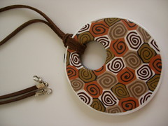 brown jellyroll pendant (elinor yamin) Tags: brown polymerclay fimo clay canes yamin pendant elinor polymer millefiori        polymerclaycanes   elinoryamin