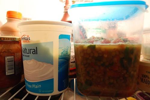 Lentil Soup, Refrig!