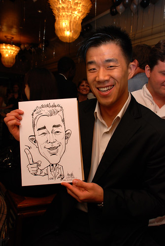 Caricature live sketching for Standard Chartered Bank Legal Learning Event 4