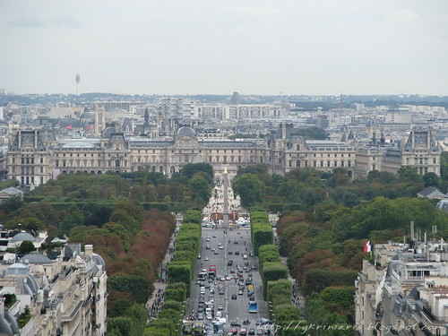 Paris panoramic view from Arc de Triomphe