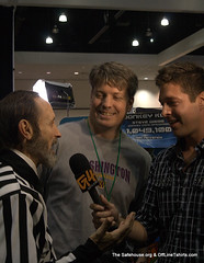 Walter Day and Steve Wiebe being interviewed by G4