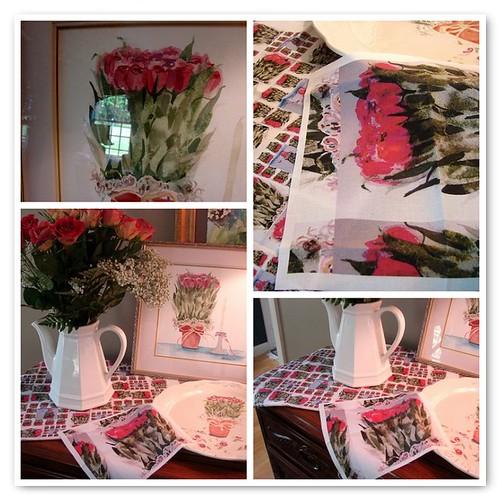roses, roses, roses fabric design