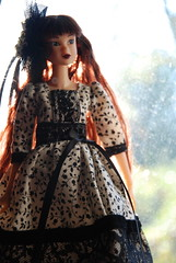 Portrait of Ivie (Girl Least Likely To) Tags: fashion toys japanese dolls vinyl etsy sekiguchi momoko ivie handmadedress asiandolls darkcherry lepetitboutique