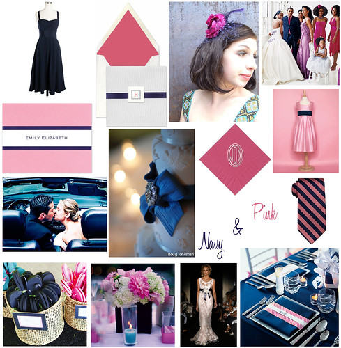 Reader Request: Pink & Navy Inspiration Board