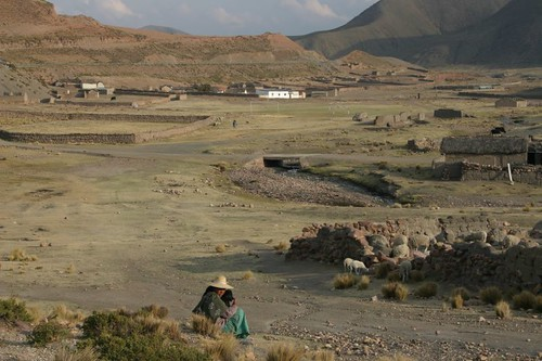 Bolivian village near Caracollo.