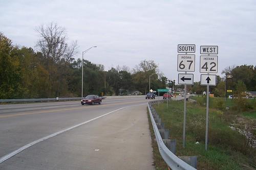 State Road 42 begins