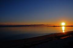 Stunning Golden & Red Sunsets Smith Point, Great South Bay, Long Island, NY - IMRAN - 800+ Views! (ImranAnwar) Tags: ocean light sunset sun newyork reflection beach yellow gold nikon october longisland dslr 2008 imran d300 greatsouthbay smithpoint imrananwar