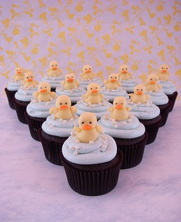 Ducky cupcake lineup