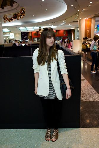 White jacket - Pitt St Mall