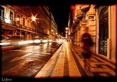 Lisboa  Noite (Ander Ormaetxea) Tags: motion blur noche long exposure lisboa nocturnas ilustrarportugal