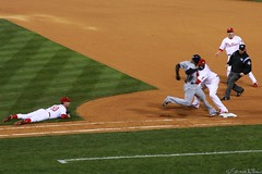 The Controversial Play (Harpo42) Tags: fall philadelphia happy baseball awesome down pa effort phillies philly safe runner 2008 citizensbankpark game3 worldseries mlb nightgame umpire raindelay firstbase jamiemoyer majorleague ryanhoward hometeam october25 carlcrawford gamethree fallclassic phans chaseutley phillieswin questionablecall