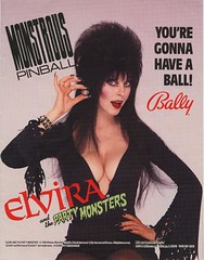 Elvira and the Party Monsters promo flyer front cover