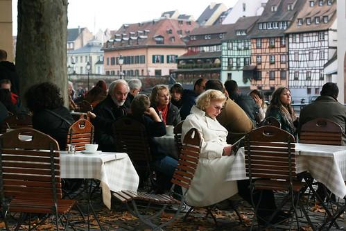 Café in Autumn, Petite France, Strasbourg