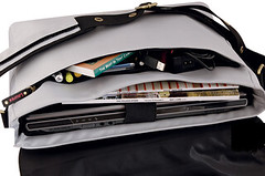 Laurex Silver Petal Laptop Bag - interior