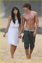 Zac Efron and Vanessa Hudgens (hello_kitty_0220) Tags: school wedding vanessa beach hawaii high walk musical romantic zac sweethearts efron hudgens